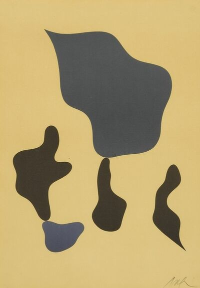 Hans Arp, 'Composition mit fünf Formen; and Compositon (Arntz 358 & 362)', 1964 and 1966