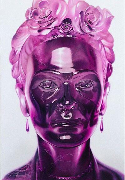 Mike Dargas, 'Frida Kahlo Crystal Series - Purple', 2019