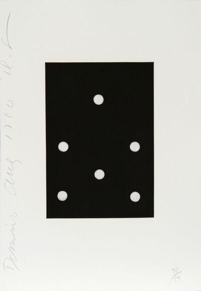 Donald Sultan, 'Dominoes Portfolio - 17', 1990