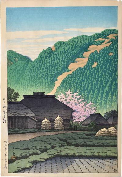 Kawase Hasui, 'Morning in Nishbira, Izu', 1953