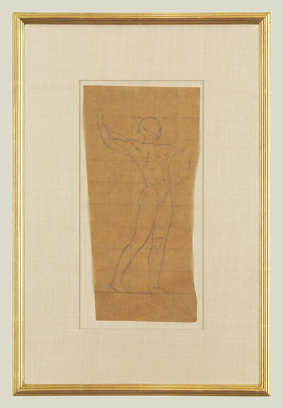 John Singer Sargent, 'Mural Study, Male Nude', 1922-1925