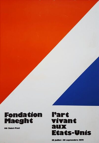 Ellsworth Kelly, 'L'Art vivant aux Etats-Unis, Fondation Maeght', 1970