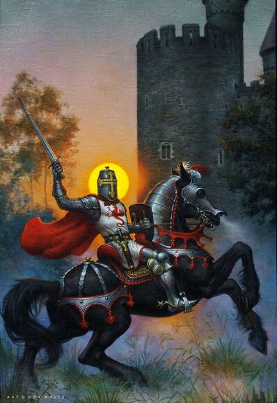 Don Maitz, 'Knight at Sunset', 1991
