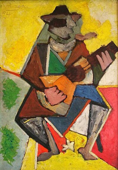 Miguel Ángel Pareja, 'Gaucho con guitarra', 1954
