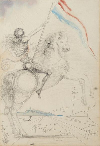 Salvador Dalí, 'Cavalier à l'étendard', 1965