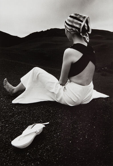 Hiro, 'Akiko on the Black Lava of Hawaii', 1965-printed later
