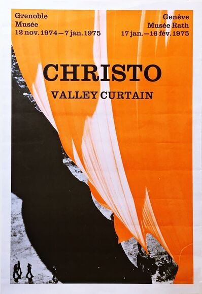 Christo, 'Valley Curtain Project Exhibition at Grenoble Musee and the Geneve Musee from the collection of Aviva and Jacob Bal Teshuva', 1975