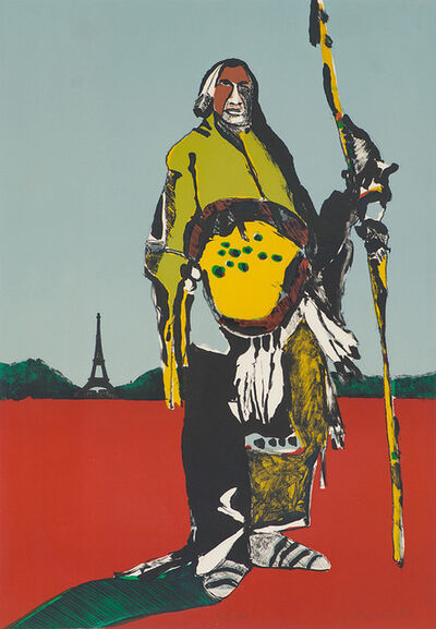 Fritz Scholder, 'Indian in Paris', 1976