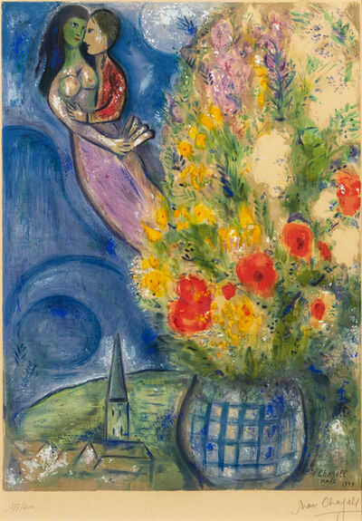 Marc Chagall, 'Red Poppies', 1949