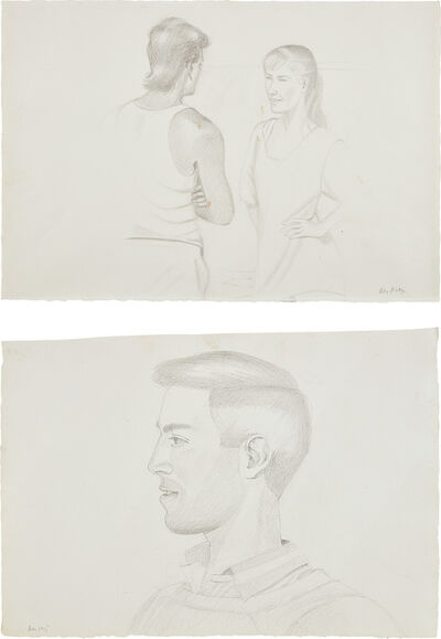 Alex Katz, 'Two works: (i) Beach Encounter; (ii) Vincent'