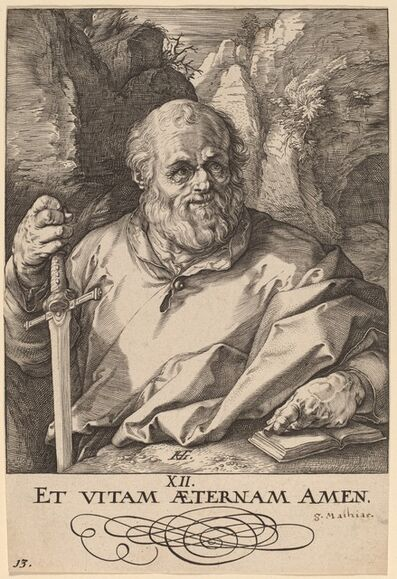 Hendrik Goltzius, 'Saint Matthias', probably 1589