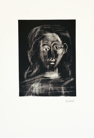 Pablo Picasso, ' Jacqueline aux chevaux flous, en buste', 1962
