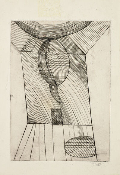 Louise Bourgeois, 'He Disappeared into Complete Silence: Untitled (Ceiling Floating), alternative plate', 1946-47