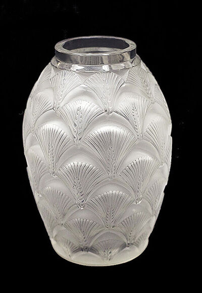 René Lalique, 'Rene Lalique France Signed Frosted Glass Vase Signed Artwork Crystal Antique SBO', 20th Century