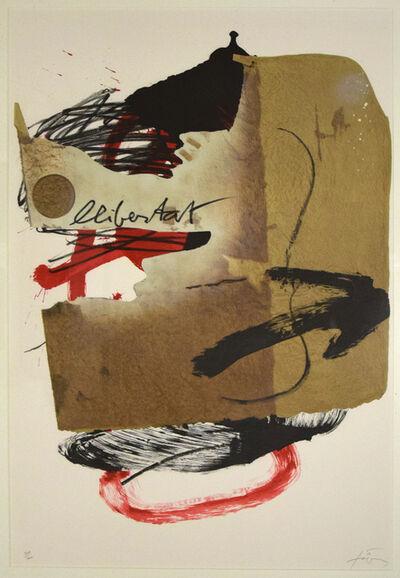 Antoni Tàpies, 'Libertat', 1988