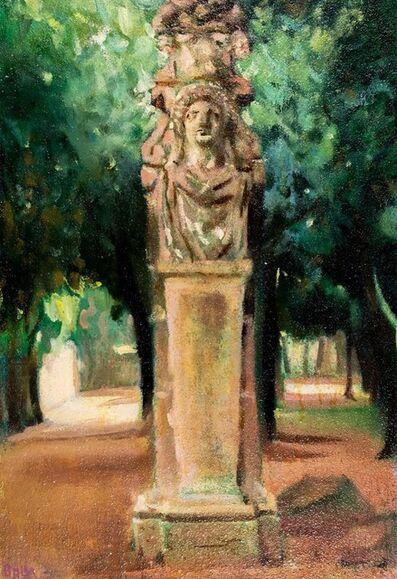 Giacomo Balla, 'Villa Borghese - Erma in Parco dei Daini'