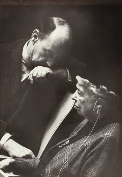 Inge Morath, 'Eleanor Roosevelt and Adlai Stevenson', 1961