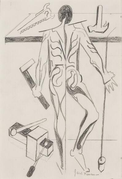 Jacob Lawrence, 'FIGURE STUDY AFTER VESALIUS (BACK WITH PLUMB-BOB)', 1979-1996