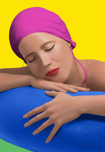 Carole A. Feuerman, 'SERENA WITH PINK CAP', 2012
