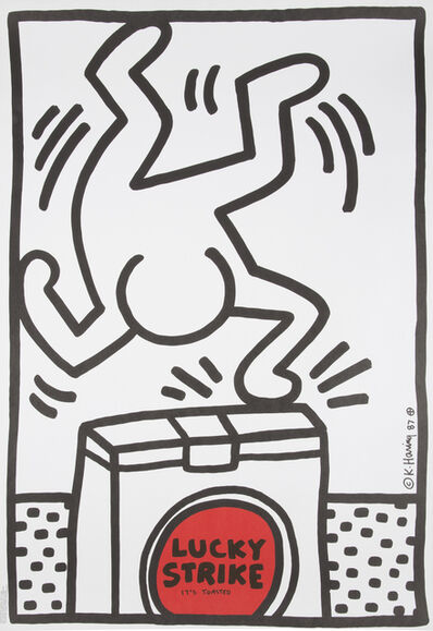 Keith Haring, 'Lucky Strike Poster'