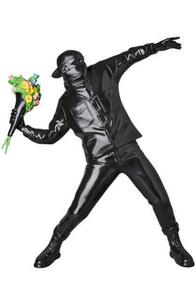 Banksy, 'Flower Thrower Black', 2019