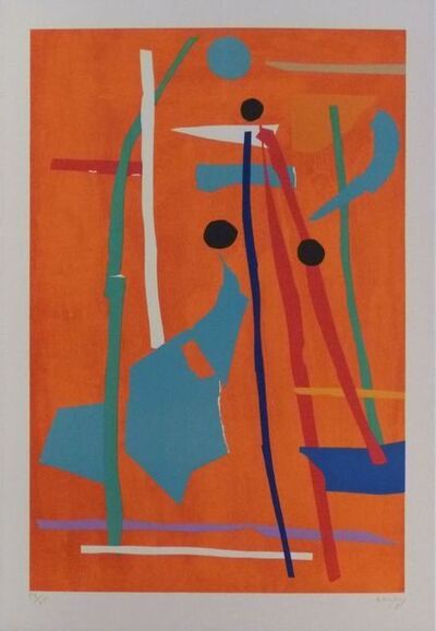 André Lanskoy, 'Composition on orange background ', 1968