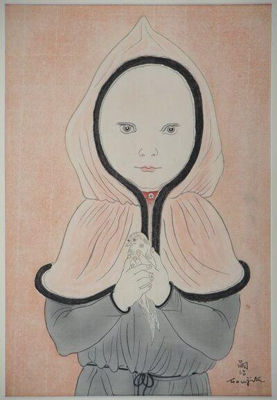 Léonard Tsugouharu Foujita, 'Little girl with red cape and bird, 1930', 20th Century