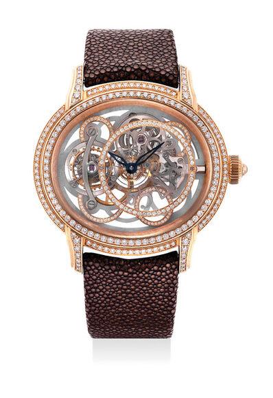 Audemars Piguet, 'An very fine and impressive limited edition pink gold and diamond-set wristwatch with tourbillon regulator, guarantee and presentation box', Circa 2010