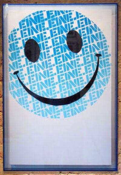 Ben Eine, 'Smiley Face (Blue)', 2011