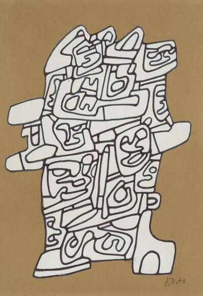 Jean Dubuffet, 'Dessin pour un monument', 1970