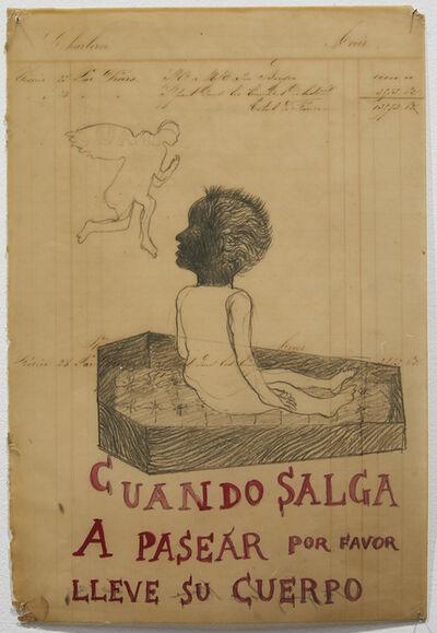 Sandra Vásquez de la Horra, 'Cuando salga a pasear por favor lleve su cuerpo ', 2012