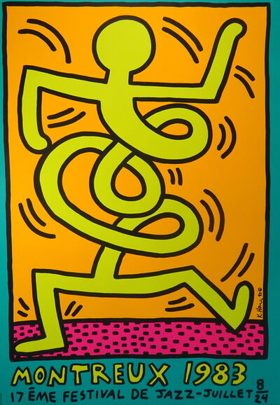 Keith Haring, 'Montreux Jazz Festival 1983', 1983
