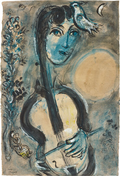 Marc Chagall, 'Le violoncelliste', 1964