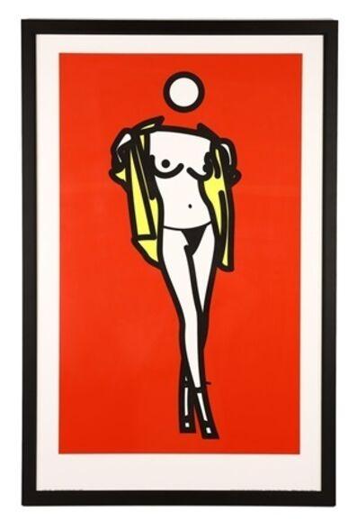 Julian Opie, 'Woman taking off man's shirt', 2003