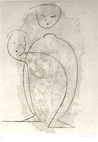 Max Ernst, 'Composition of Two Figures', 1968