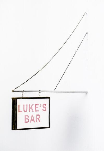 Drew Leshko, 'Luke's Bar Sign', 2017