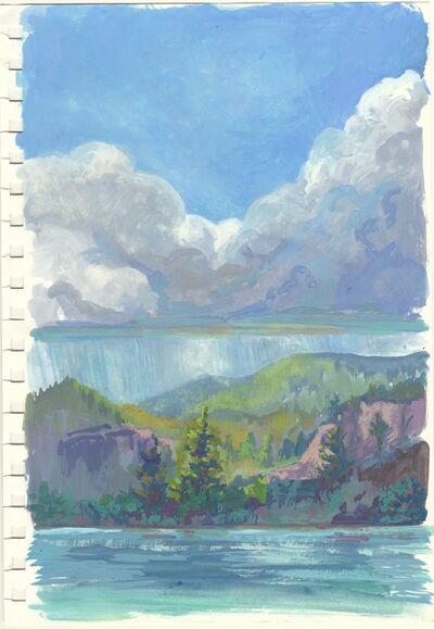 CHARIS J. CARMICHAEL BRAUN, 'Study: Storm On The Lake', 2018