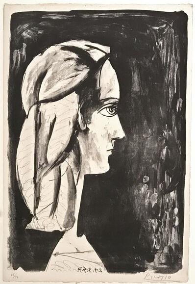 Pablo Picasso, 'Profil au fond noir', 1947