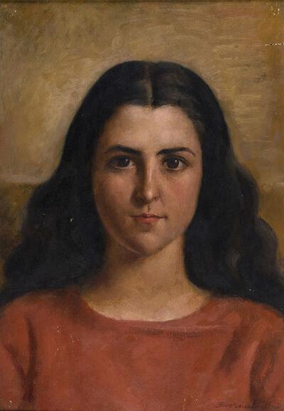 Severino Bellotti, 'Woman in red'