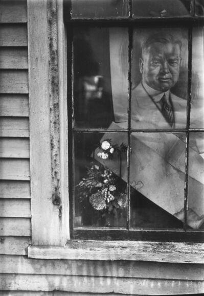 Walker Evans, 'Political Poster (Herbert Hoover) in House Window, Wellfleet, Massachusetts', 1929