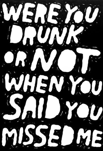 Stefan Marx, 'Were You Drunk Or Not', 2015