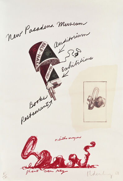Claes Oldenburg, 'Notes, Untitled (New Pasadena Museum)', 1968