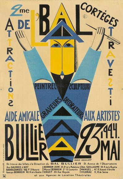 Marie Vassilieff, '2me AAAA Bal/Bullier.', 1924
