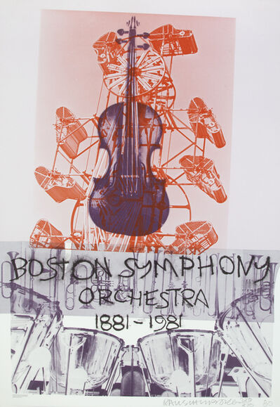 Robert Rauschenberg, 'Boston Symphony Orchestra Poster', 1981