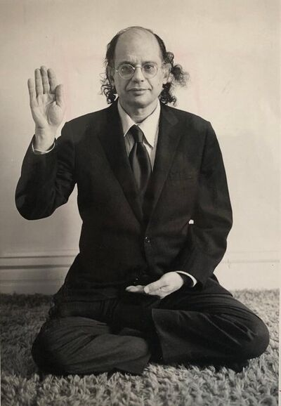 Jan Herman, 'Original Vintage Silver Gelatin Photograph of Poet Allen Ginsberg in Yoga Pose', 1980-1989