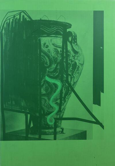 Fabian Marti, 'Curse Me Cthuluh 2008 (Green)', 2018