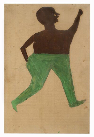 Bill Traylor, 'Man with Green Pants', ca. 1939