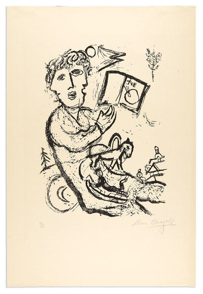 Marc Chagall, 'THE ARTIST WITH THE BOOK (CRAMER BOOKS 75)', 1968