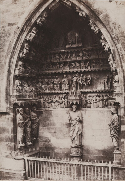 Charles Marville, 'Cathedrale de Reims (Portail)', 1853/1853