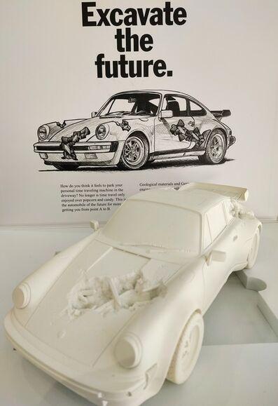 Daniel Arsham, 'Eroded 911 Turbo White', 2020